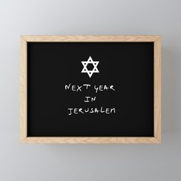 Next year in Jerusalem 5 Framed Mini Art Print