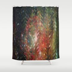 2/cursed universe Shower Curtain