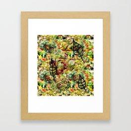 Salad Floral Framed Art Print