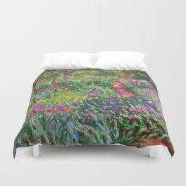 Claude Monet - The Iris Garden At Giverny Duvet Cover