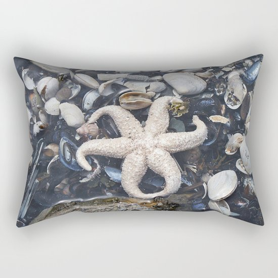 Starfish and Shells Rectangular Pillow