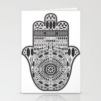 hamsa Stationery Cards featuring Hamsa by Paint it graphics