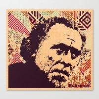 bukowski Canvas Prints featuring Bukowski by f_e_l_i_x_x