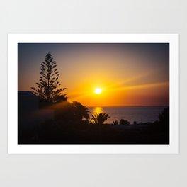Monolithos Sunrise Art Print