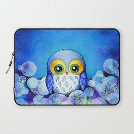 Lunar Owl in Dandelion Field Laptop Sleeve