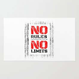 No Rules No Limits Rug