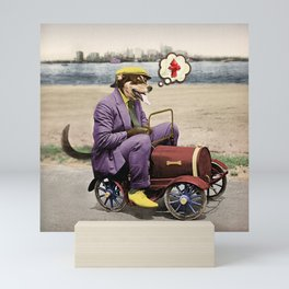 Barkin' Down the Highway! Mini Art Print