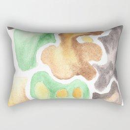 170623 Colour Shapes Watercolor 4  | Abstract Shapes Drawing | Abstract Shapes Art Rectangular Pillow