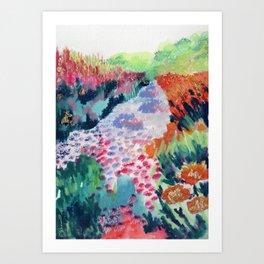 Buffalo Wildflowers - 8 Art Print