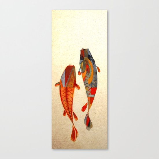 Kolors koi canvas print by fernando vieira society6 for Koi prints canvas