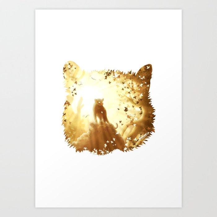 Mountain Tiger Art Print