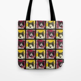 Ted Grid Tote Bag