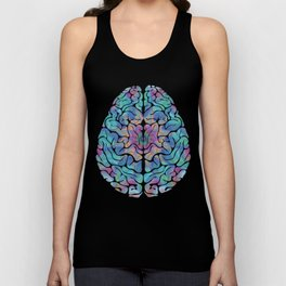 Human Anatomy Brain Psychedelic Gift Trippy Surreal Colorful Unisex Tank Top