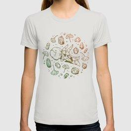 Triceratops Rocks! | Leaf Green & Pumpkin Spice Ombré T-shirt