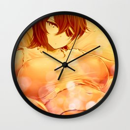 Laying on the Bed Wall Clock