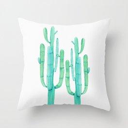 Dos Amigos Throw Pillow