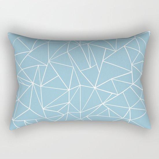 Abstraction Outline Sky Blue Rectangular Pillow