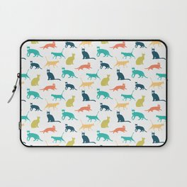 Colorful Cat Pattern Minimal Happy Bright Laptop Sleeve
