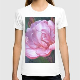 Pink Peony Painting - Wall Art - Home Decor, Art Print,  flower, Floral , peony, flowers, peonies, floral, flower, nature, pink, watercolor, rose, romantic T-shirt