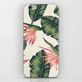 Palm Leaf & Flower Print iPhone Skin