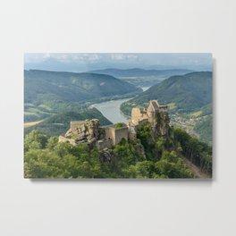 Castle ruins of Aggstein, Wachau (Austria)  Metal Print