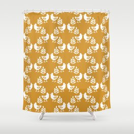 SCANDINAVIAN BIRDS Shower Curtain