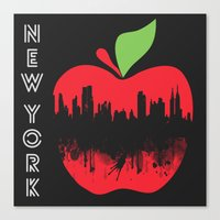 new york Canvas Prints featuring NEW YORK, NEW YORK by mark ashkenazi