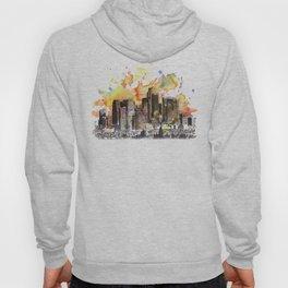 Los Angeles Cityscape Skyline Painting Hoody