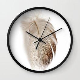 Mallard Feather Wall Clock