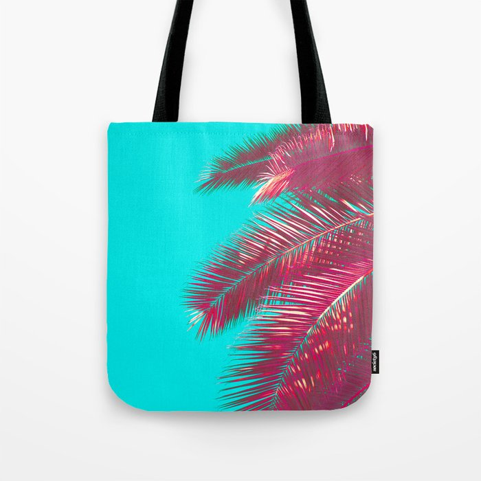 Neon Palm Tote Bag