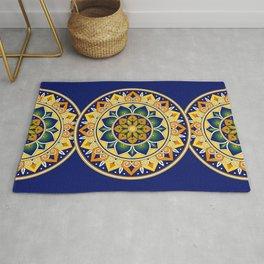 Italian Tile Pattern – Peacock motifs majolica from Deruta Rug