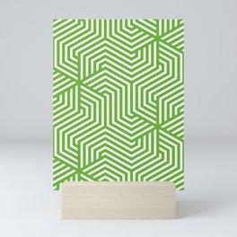 Green (RYB) - green - Minimal Vector Seamless Pattern Mini Art Print