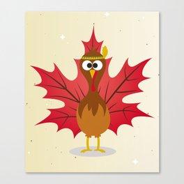 Thanksgiving Tribal Turkey Woodland Nursery Canvas Print