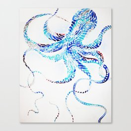 Wiggly Octopus Canvas Print