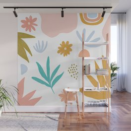 Retro Flower Art Wall Mural
