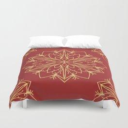 Golden Snowflake Duvet Cover