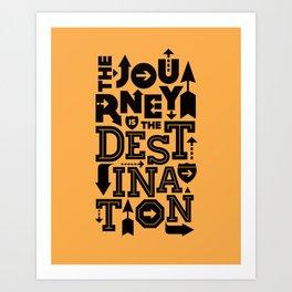 Orange Journey Quote Art Print