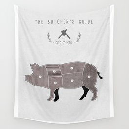 Butchers Chart Pork Wall Tapestry