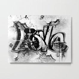 Graffiti Liebe Metal Print
