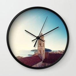 View of the Sea in Dubrovnik Croatia Wall Clock