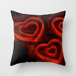 Burning LoveII Throw Pillow