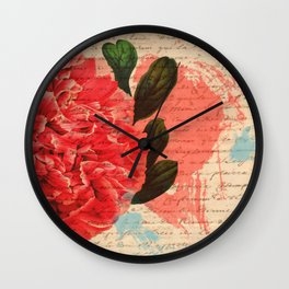 Letters I Have Written, Abstract Floral Wall Clock
