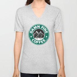 Damn Fine Coffee Unisex V-Neck