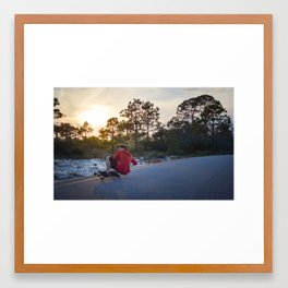 Slide Framed Art Print