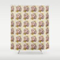 alaska Shower Curtains featuring ALASKA by IVO Illustration