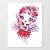 valentina Canvas Prints featuring Valentina by Sandra Vargas