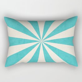aqua starburst Rectangular Pillow