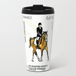 2014 FEI World Equestrian Games in Normandy PARA-DRESSAGE stamp Travel Mug