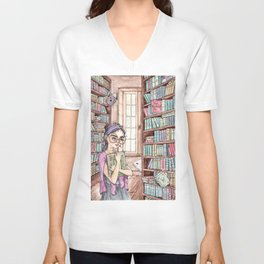 The Librarian Unisex V-Neck