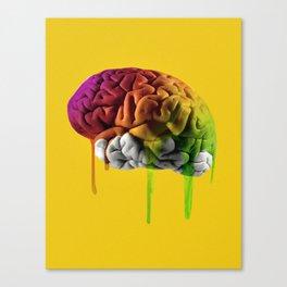 Psychedelic Brain Canvas Print